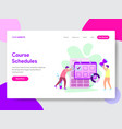 student course schedule concept vector image