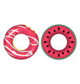 swim rings icons vector image