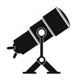 Telescope black simple icon vector image vector image