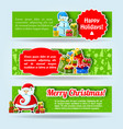 three holiday banner set vector image vector image