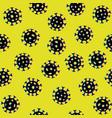 virus seamless pattern abstract bacterium vector image