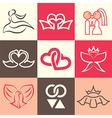 wedding logo icons vector image vector image