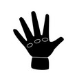 worker glove isolated vector image vector image