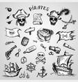 pirates set vector image