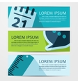 business flat background vector image