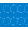 Abstract seamless chemical structure pattern vector image