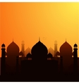 a religious background with mosque vector image