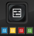 Abacus icon symbol Set of five colorful stylish vector image
