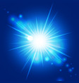 abstract blue sunburst vector image vector image