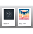 Abstract geometry backgrounds set A4 fromat vector image vector image