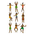 african people set male and female aboriginal vector image vector image