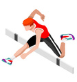 Athletics Hurdle Jump 2016 Sports 3D vector image