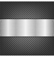 Background With Metal Plate vector image