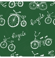 Bicycle seamless pattern vector image vector image