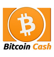 bitcoin cash symbol vector image vector image