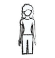 blurred silhouette faceless front view woman with vector image vector image