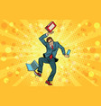 businessman juggler clerk vector image vector image
