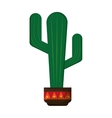 cactus in pot icon vector image