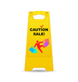 caution-sale vector image