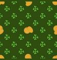 clover leaf hand drawn doodle seamless set pattern vector image vector image