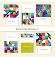 Collection Cover design for Brochure leaflet flyer vector image
