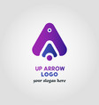colorful up arrow logo template with 3 various vector image vector image