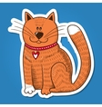 Cute character Cat with heart on collar vector image vector image