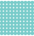 Cute colorful cross seamless pattern background vector image vector image
