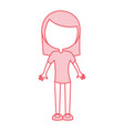 cute pink women body cartoon vector image vector image