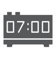 digital clock glyph icon electronic and digital vector image vector image