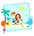 Family Fun Photo Shoot At The Beach vector image vector image