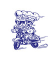 fastest delivery pizza vector image vector image