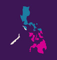 flag map of philippines vector image vector image