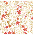 floral seamless pattern flower decorative tile vector image