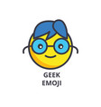 geek emoji line icon sign on vector image vector image