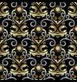 gold ornate baroque damask seamless pattern vector image vector image