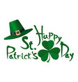 happy st patricks day design vector image vector image