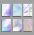 hologram pastel colorful backgrounds set vector image