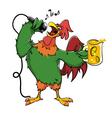 karaoke rooster vector image vector image