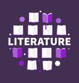 literature round creative in vector image vector image