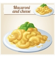 macaroni and cheese detailed icon vector image vector image