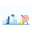 marketing strategy banner in flat style vector image vector image