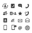 media and web communication icons set vector image vector image