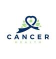 natural cancer treatment logo vector image vector image