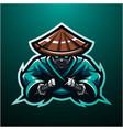 ninja esport mascot logo vector image vector image