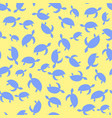 ocean turtle icon seamless pattern vector image
