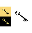 old key house icon logo old key silhouette vector image