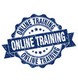 online training stamp sign seal vector image vector image