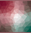 polygonal background in raspberry pink and jade vector image vector image