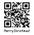 qr code sample with text merry christmas vector image vector image